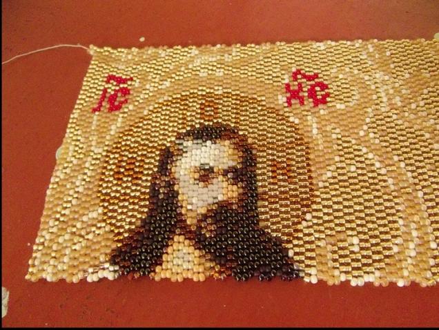 Плетение икон бисером