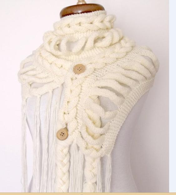 Как распустить вязанный шарф