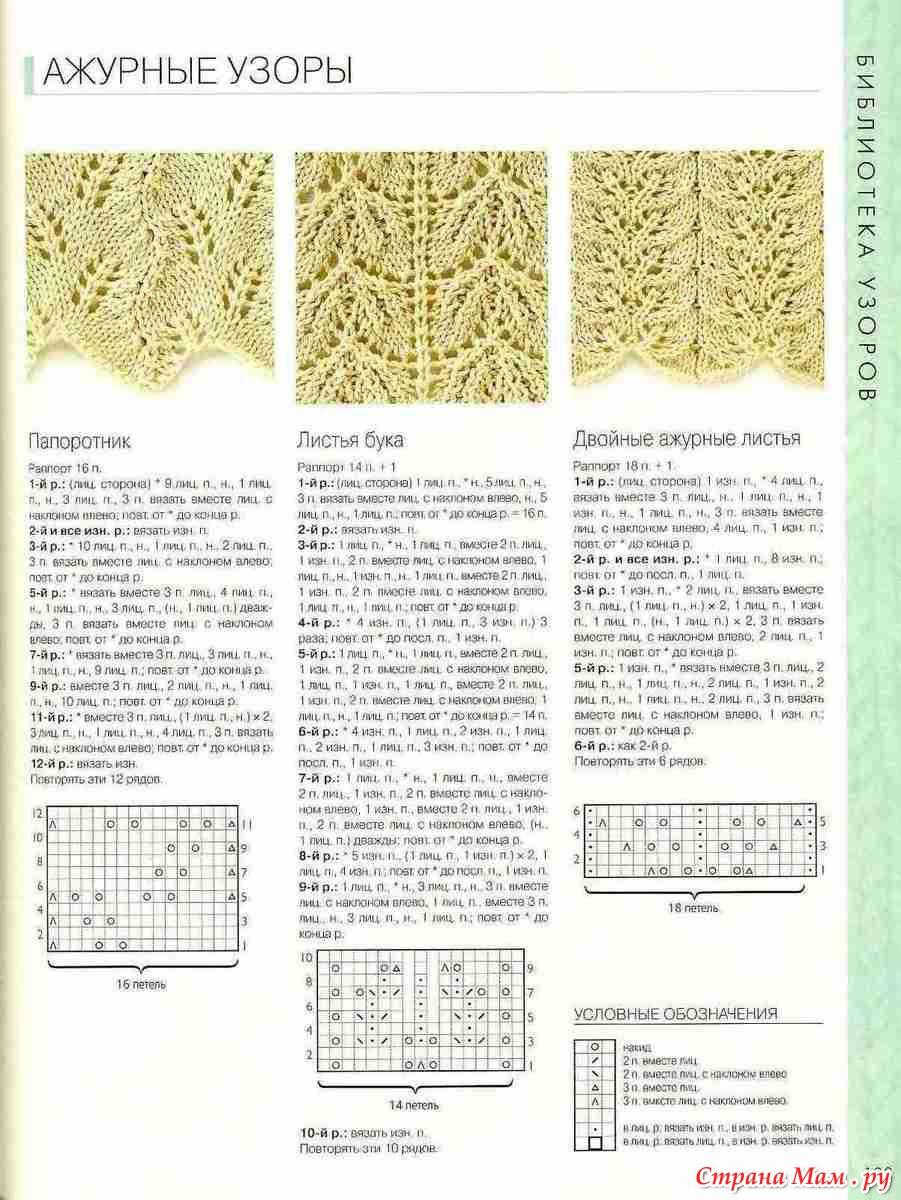 300 узоров вязания на спицах