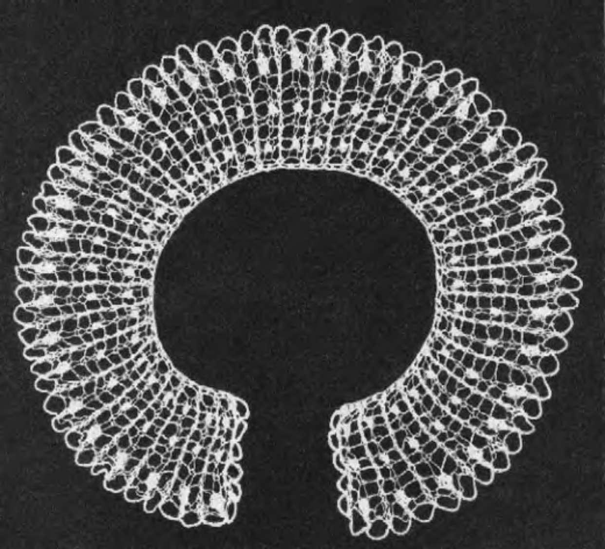 вязание спицами ажурные воротнички схемы