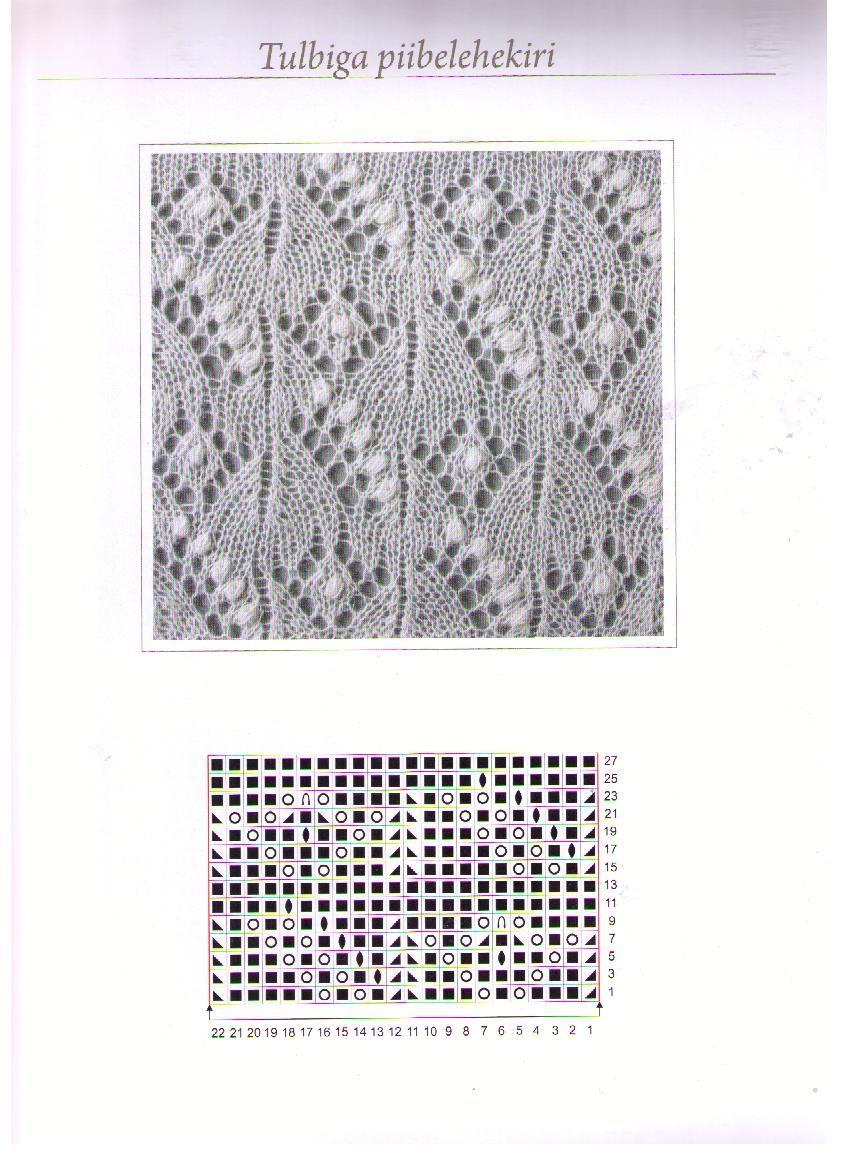 Красивый ажурный узор для вязания спицами Ландыши 30