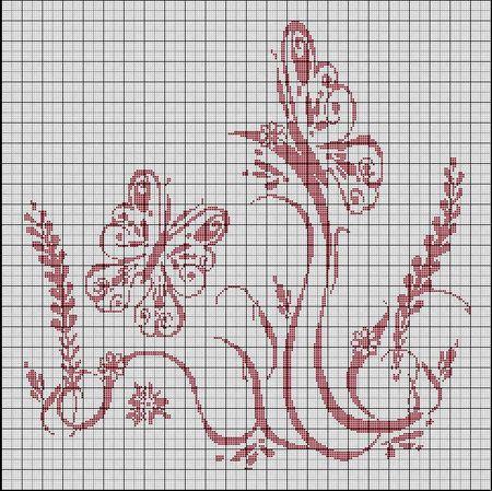 128Схемы картин для филейного вязания крючком схемы