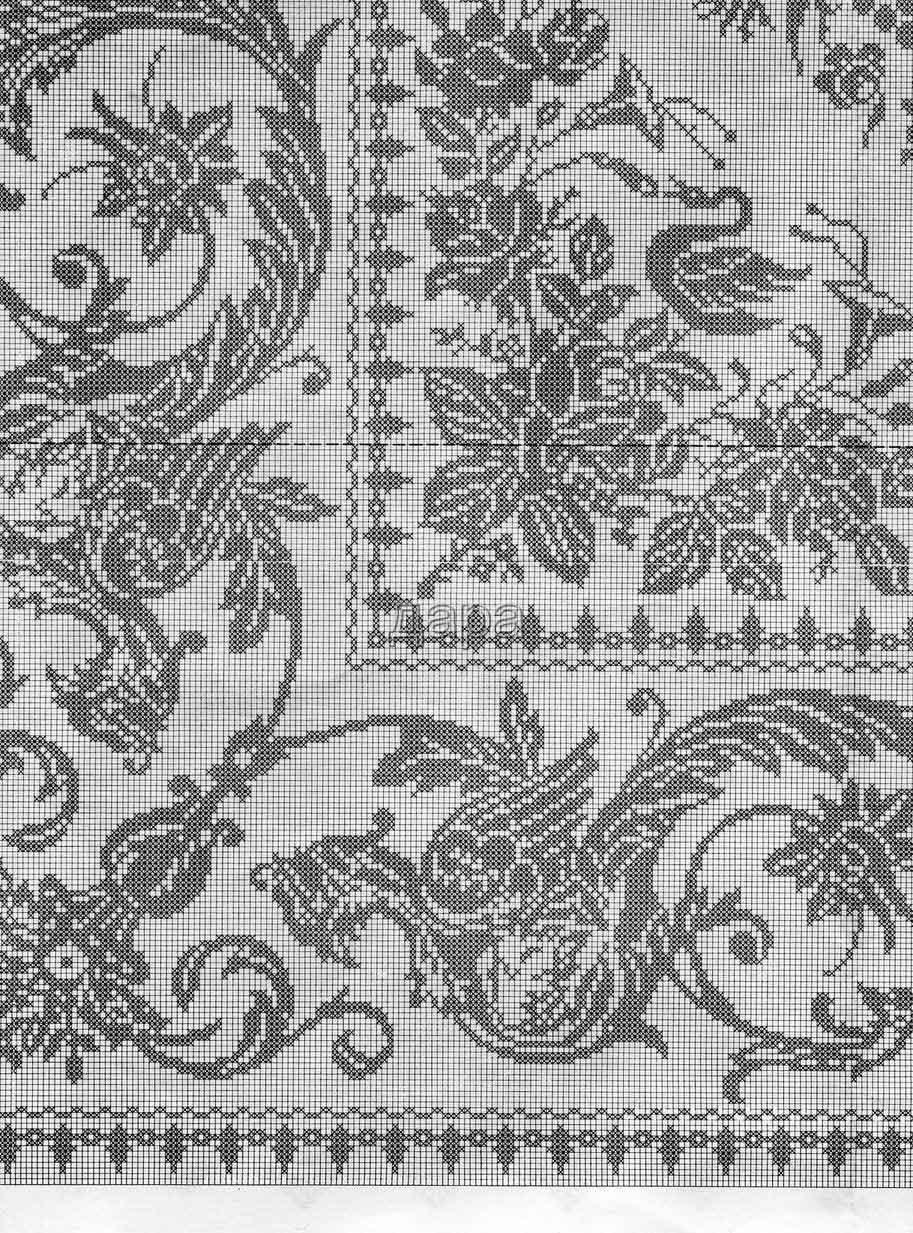 Филейное вязание в контакте схемы