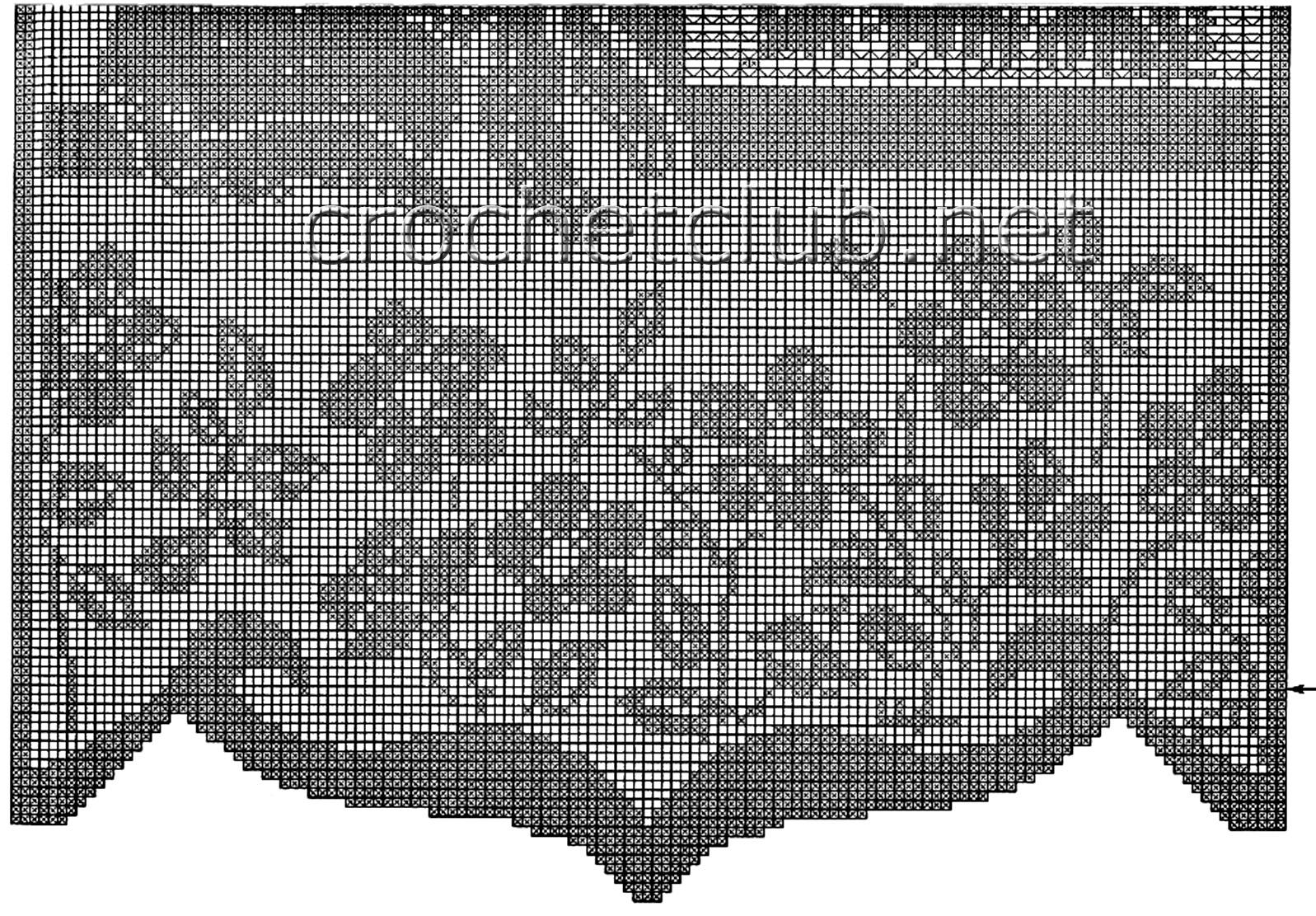 схема вязания штор крючком