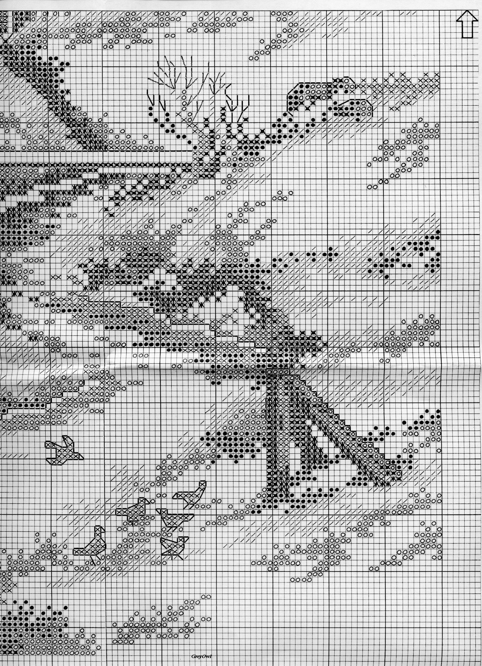 Вышивка крестом монохром пейзаж схемы 634
