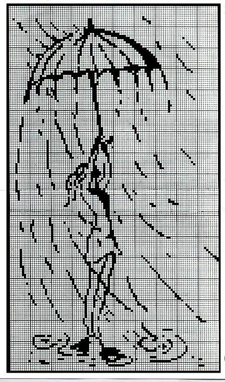Схемы вышивки крестом зонтик