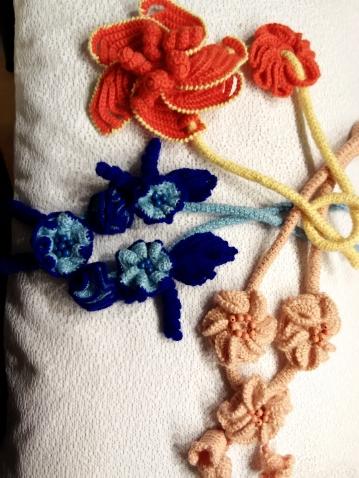 """Цветы на шею.., конкурс """"цветочное рукоделие"""", вязание крючком"""