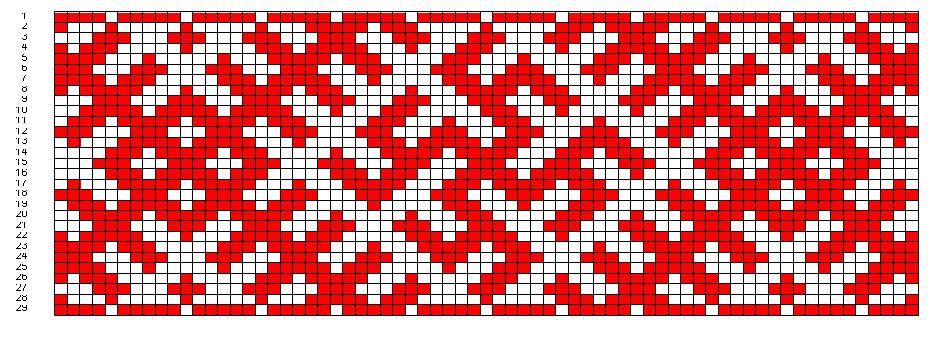 172Орнамент для вышивки на поясе