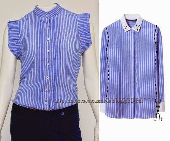 Переделка мужских рубашек своими руками