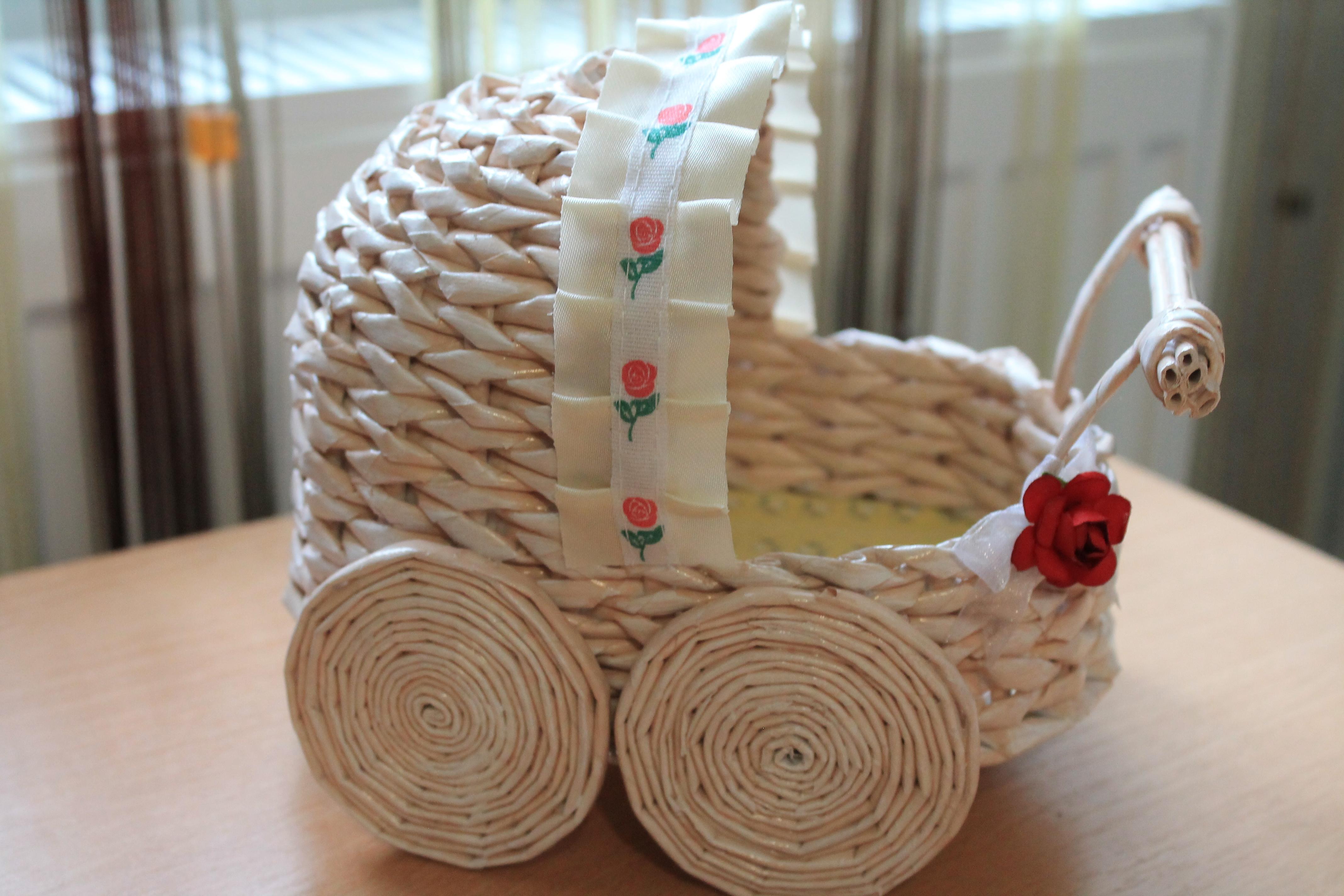 Плетение из газетных трубочек для начинающих - пошаговый мастер-класс 92