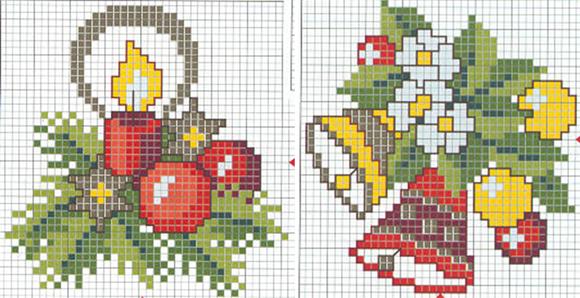 Схемы вышивки крестом на новый год композиции