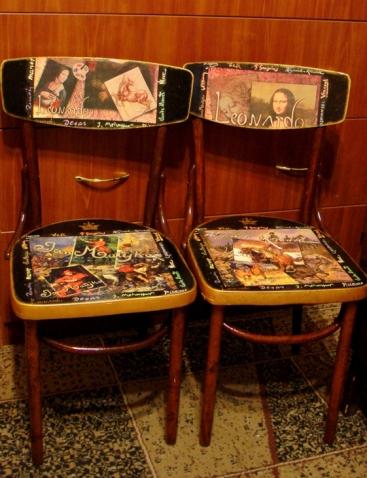 Старым стульям-вторая жизнь.