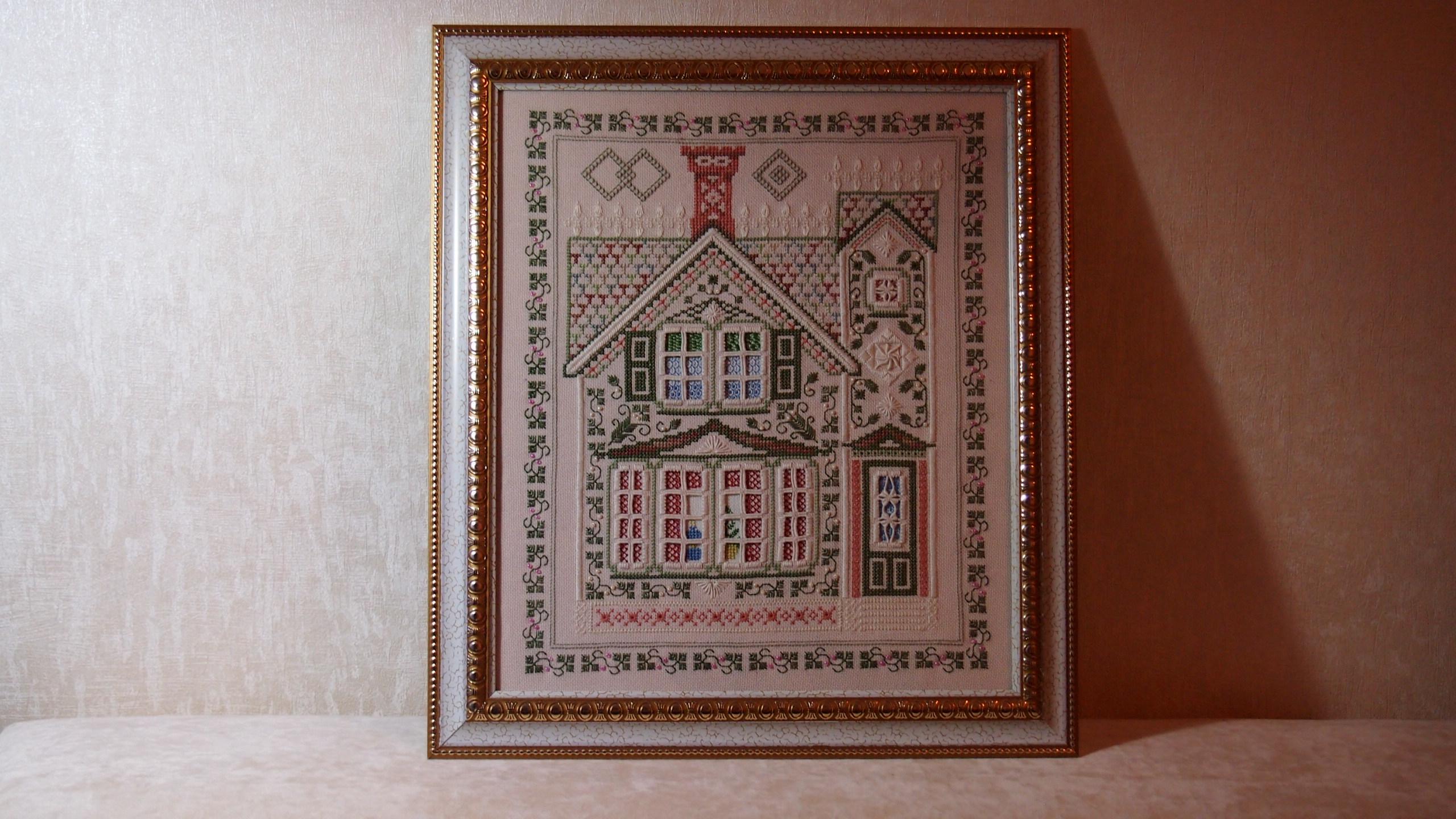 викторианский дом вышивка схема