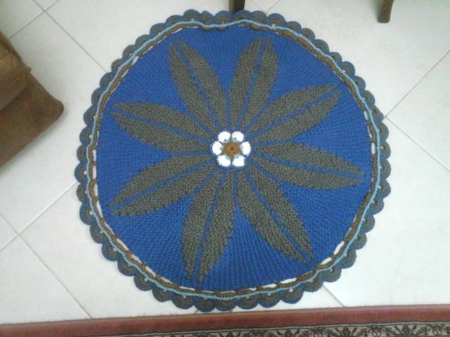 Связать круглый коврик на спицах