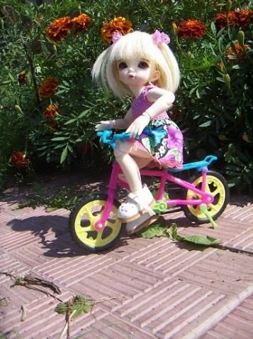 Аглая - юная велосипедистка, или страдания на колесах. История третья.