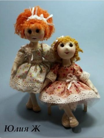 Текстильная каркасная кукла.