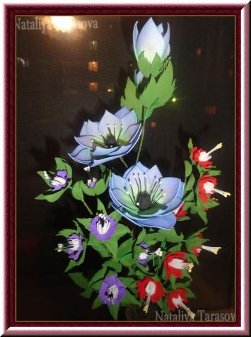 Цветы из фома в вазу!
