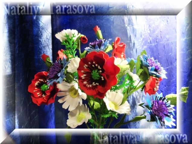 Полевые цветы...Фоамиран.