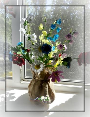Полевые цветы.Фоамиран.