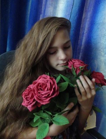 Розы...фоамиран...