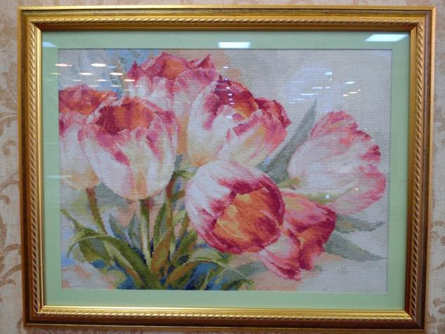 Вышивка крестом тюльпаны от алиса