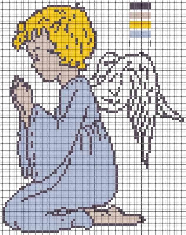 Вышивание крестиком ангелочка схема