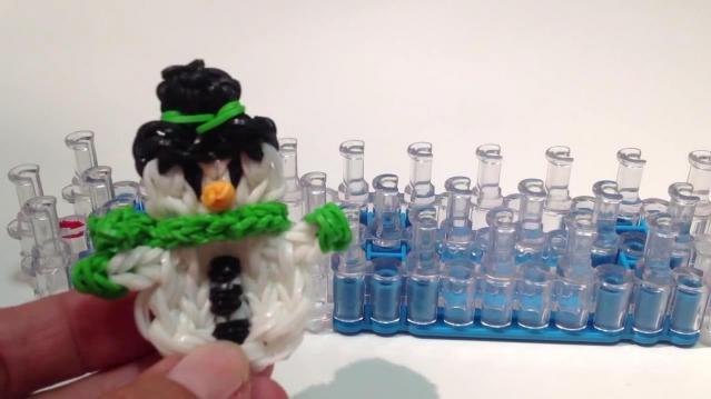 Снеговик из резиночек rainbow loom