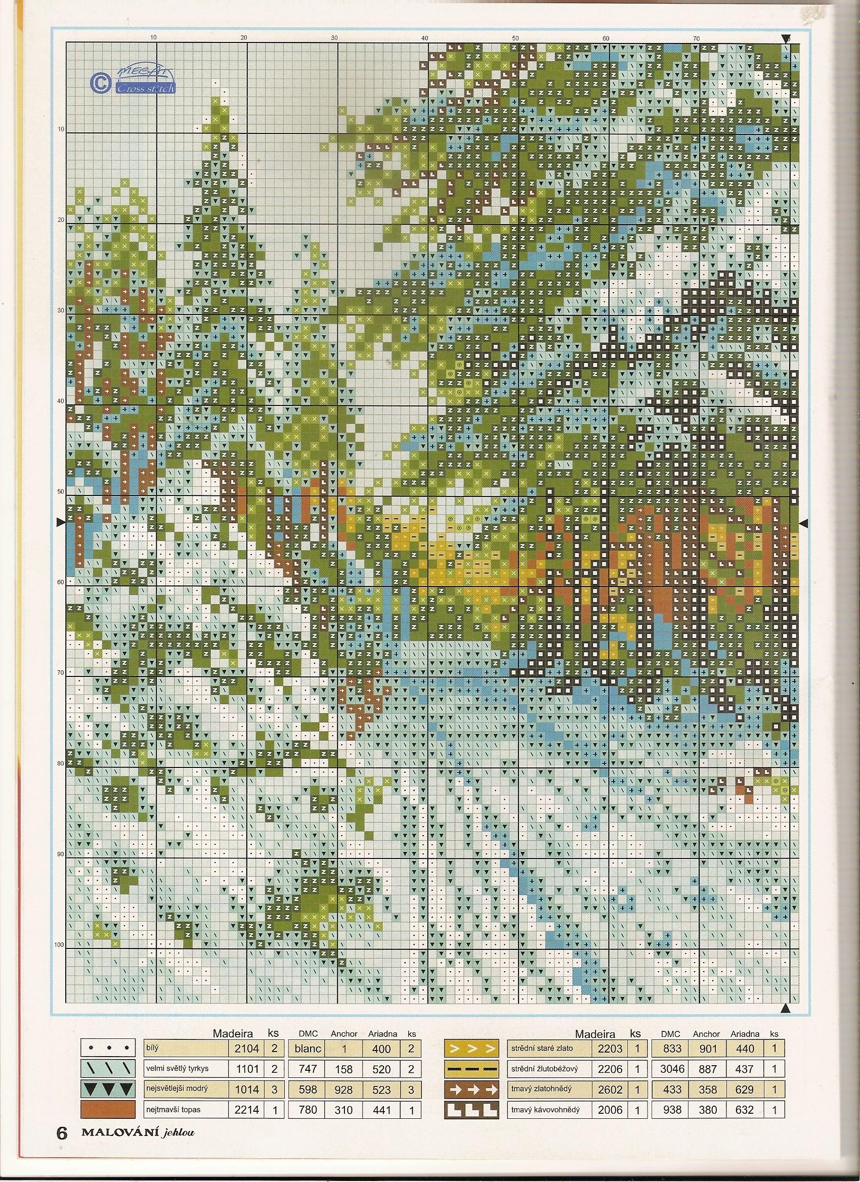 Бесплатные вышивки крестом зимние пейзажи
