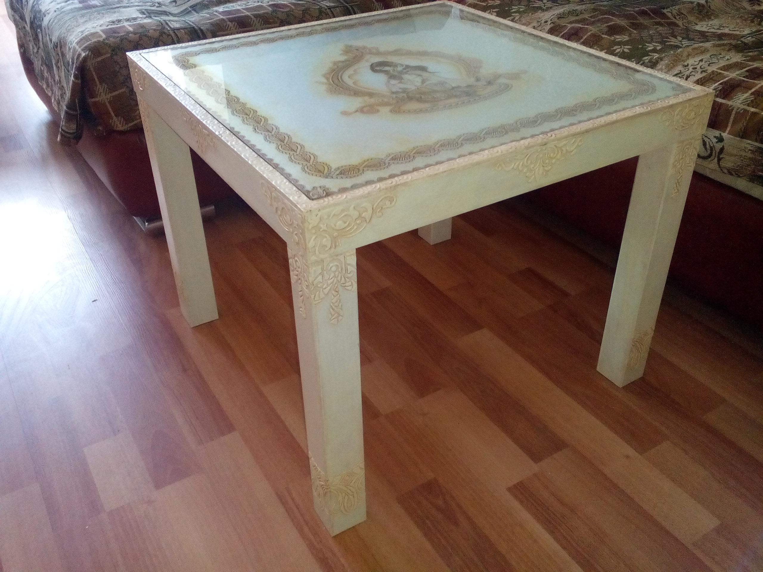 Декупаж столика из икеи мастер класс