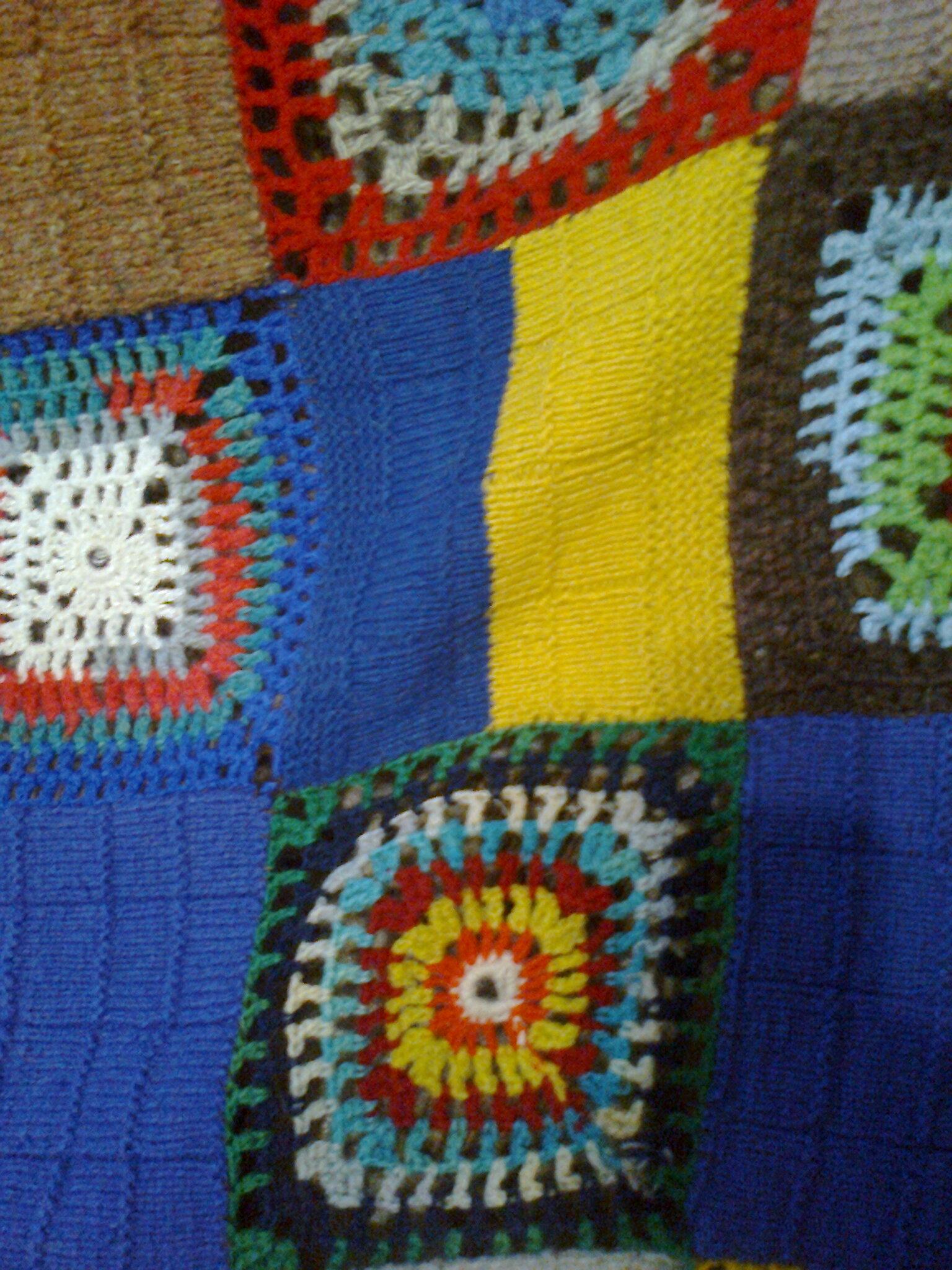 Бабушкин квадрат вязание спицами