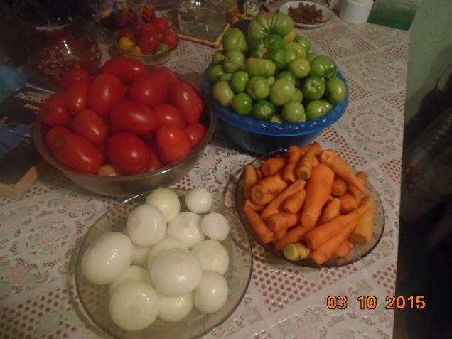 Утилизация зелёных помидор и прочей некондиции.