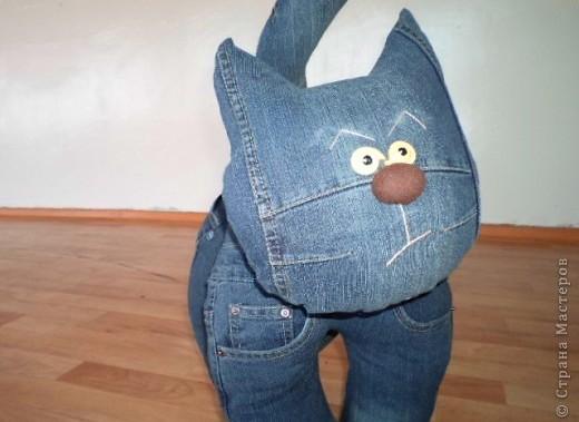 Игрушка из старых джинсов своими руками мастер класс