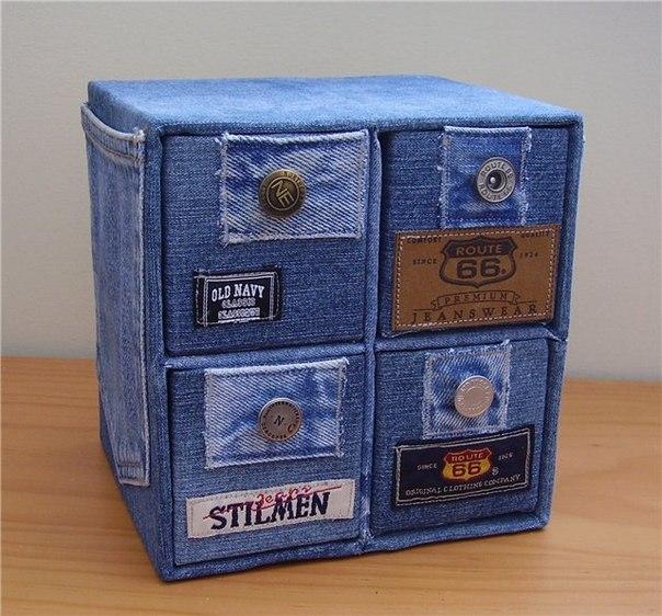 Сувениры из старых джинсов своими руками