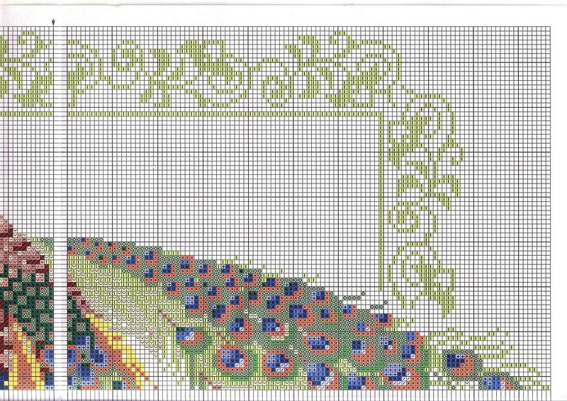 Павлин схема для вышивки крестом 319