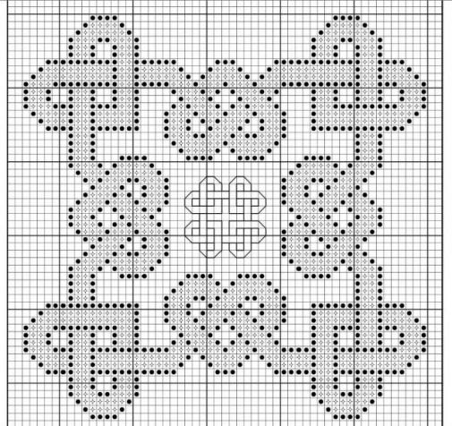 А это схемки для больших бискорню. Они сшиваются по-другому, из одного квадрата, а не из двух половинок.