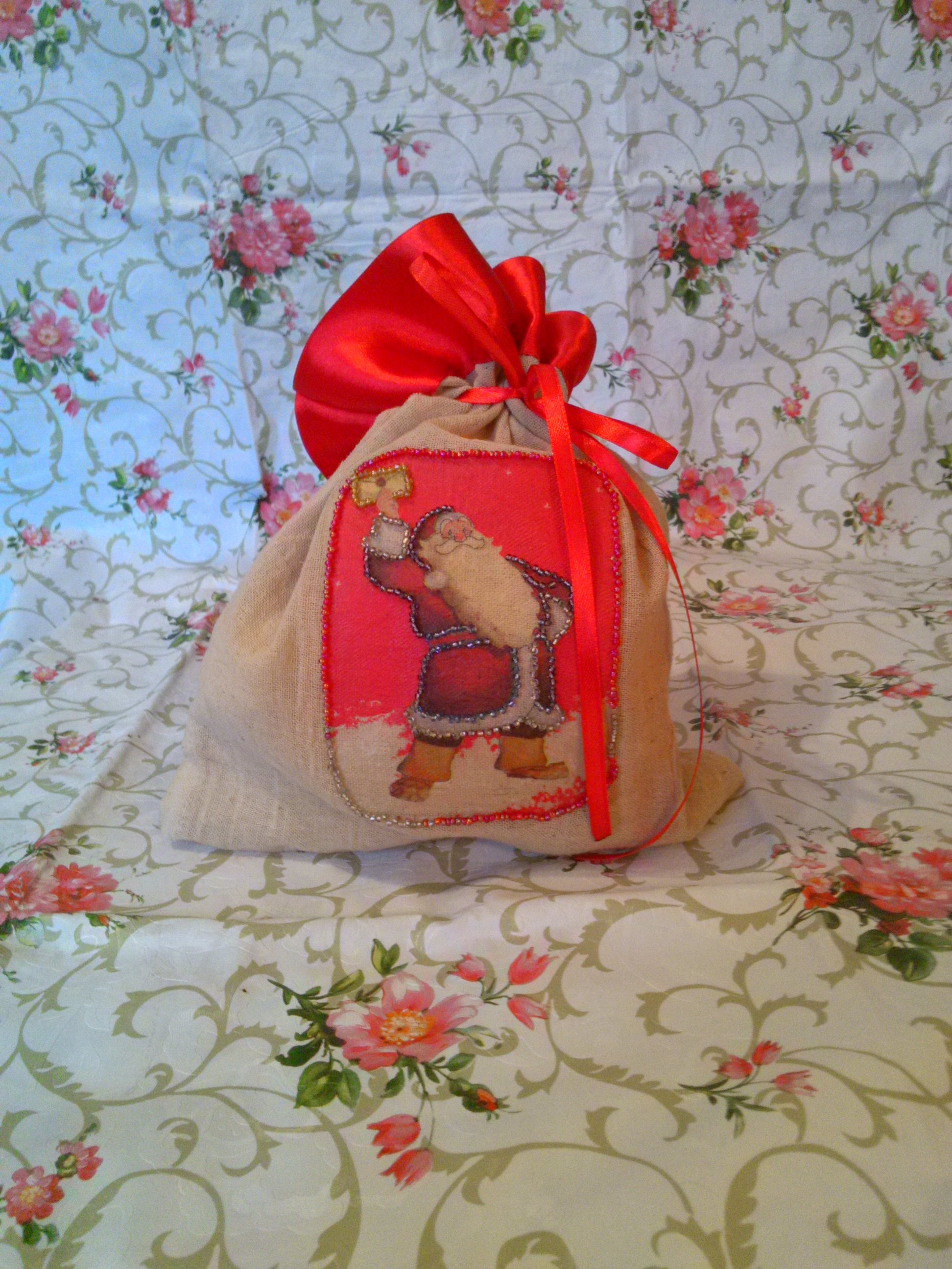 Поделка мешок подарков 7