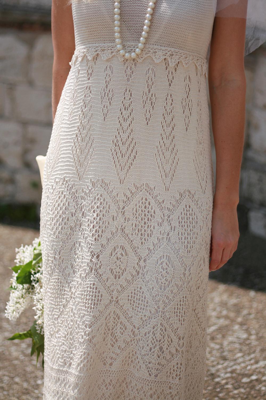 Вязание спицами.ажурные платья