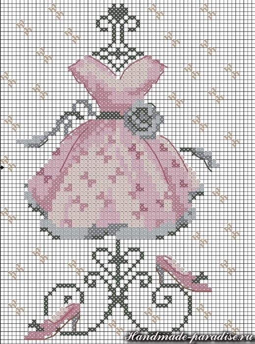 Схемы для вышивки крестом на платье
