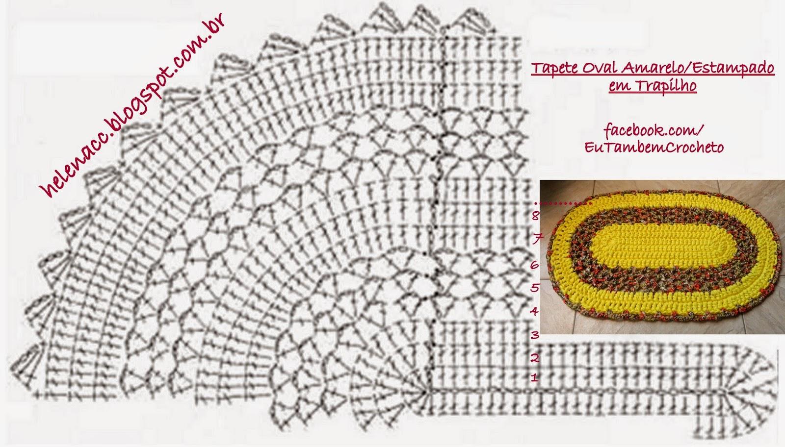 Вязание крючком овальных коврики