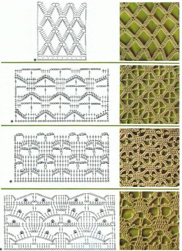 Узоры и схемы крючком