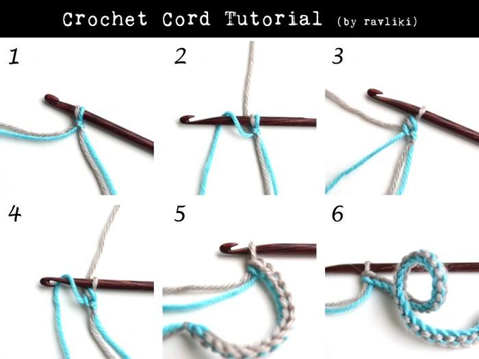 Интересный способ вязания шнура крючком - запись пользователя Марина в сообществе Вязание крючком в категории Вязание крючком для начинающих