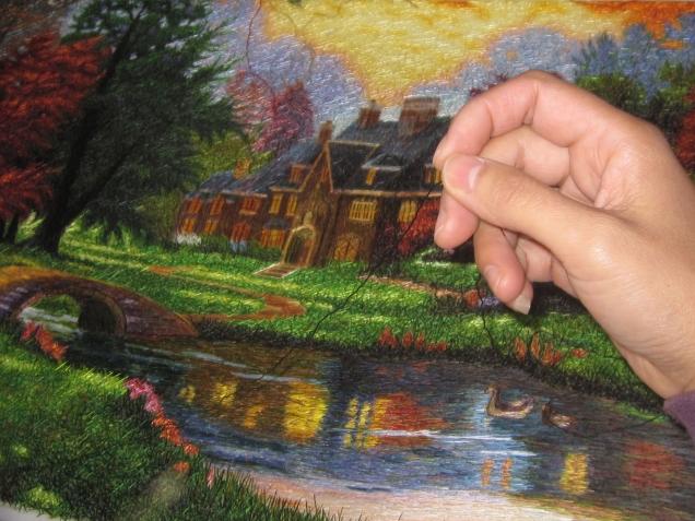 Вышитые китайские шелковые картины - живопись иглой.