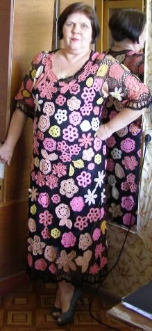 Платье - ирландское кружево. Почти Кармен.