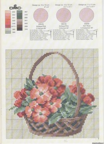 Цветочная поляна -схемы вышивки крестом