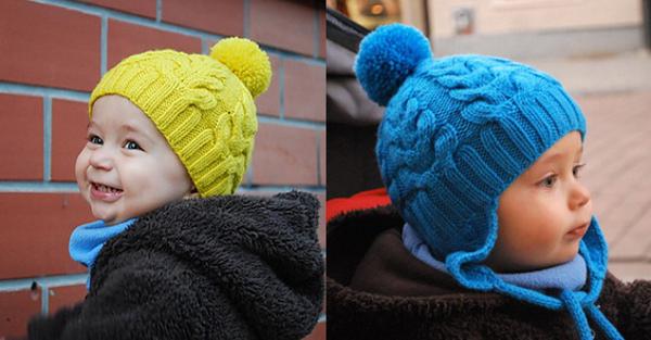 Вязание шапок для мальчиков косами