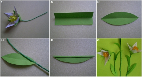 Первоцветы своими руками из бумаги