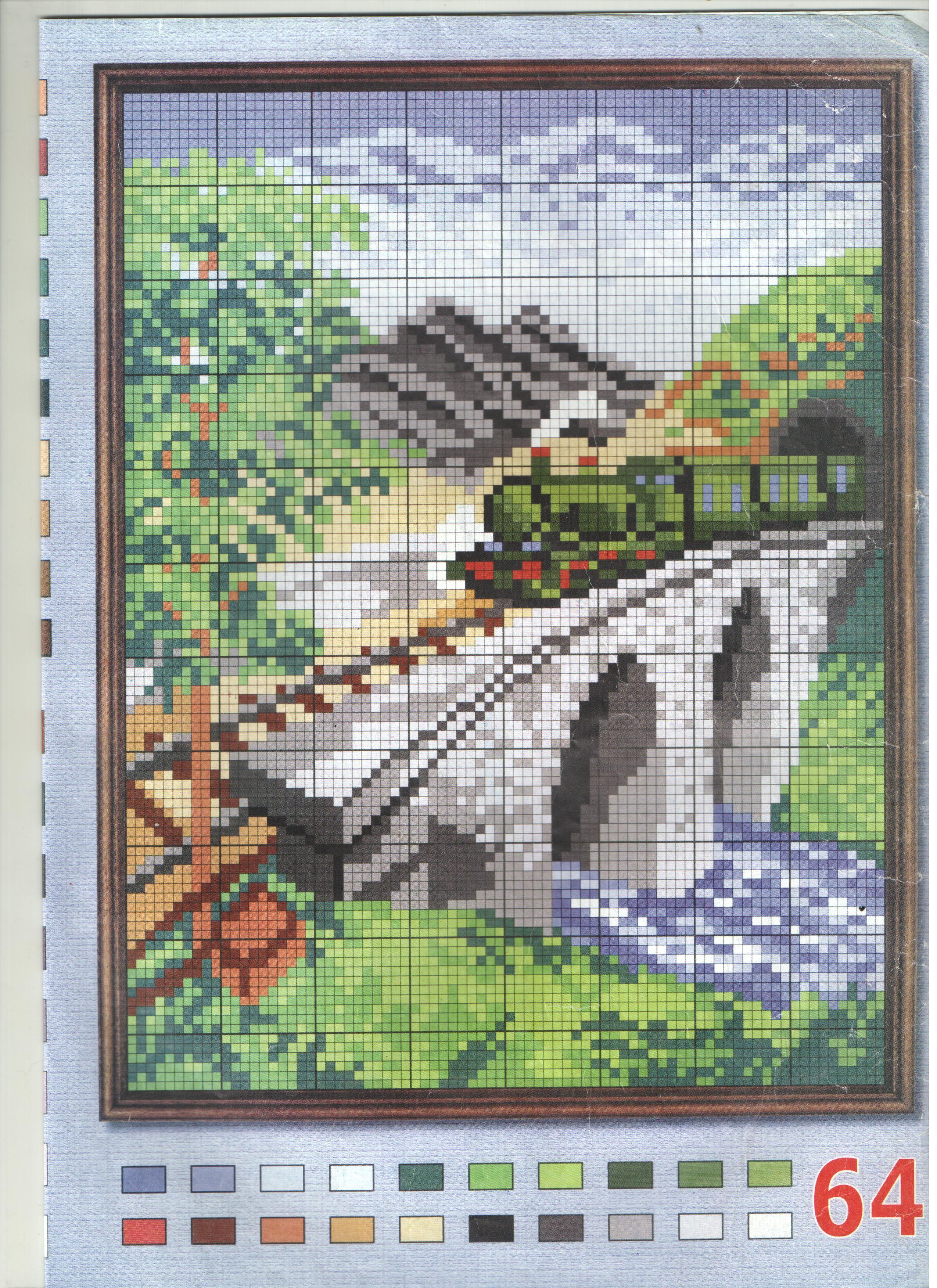 Вышивка крестом мосты схемы