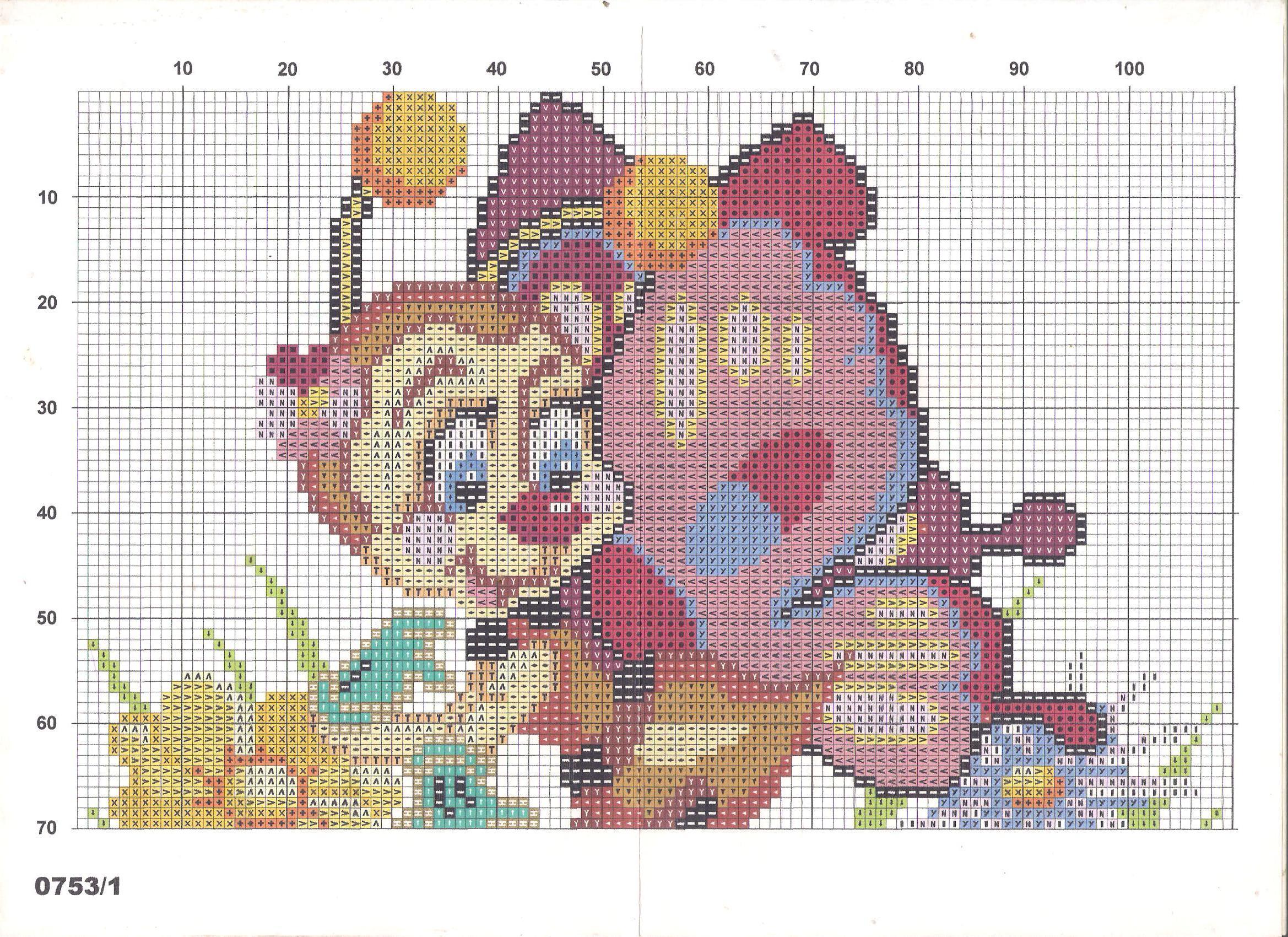 Вышивка крестом схемы вышивки подушка детские 815