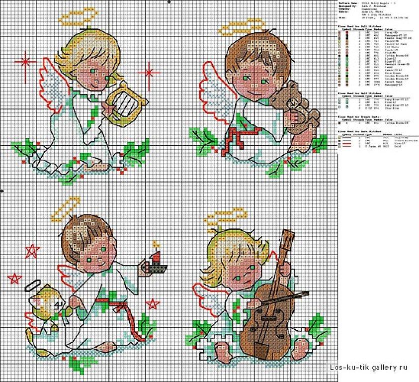 Вышивка крестом ангелочки маленькая