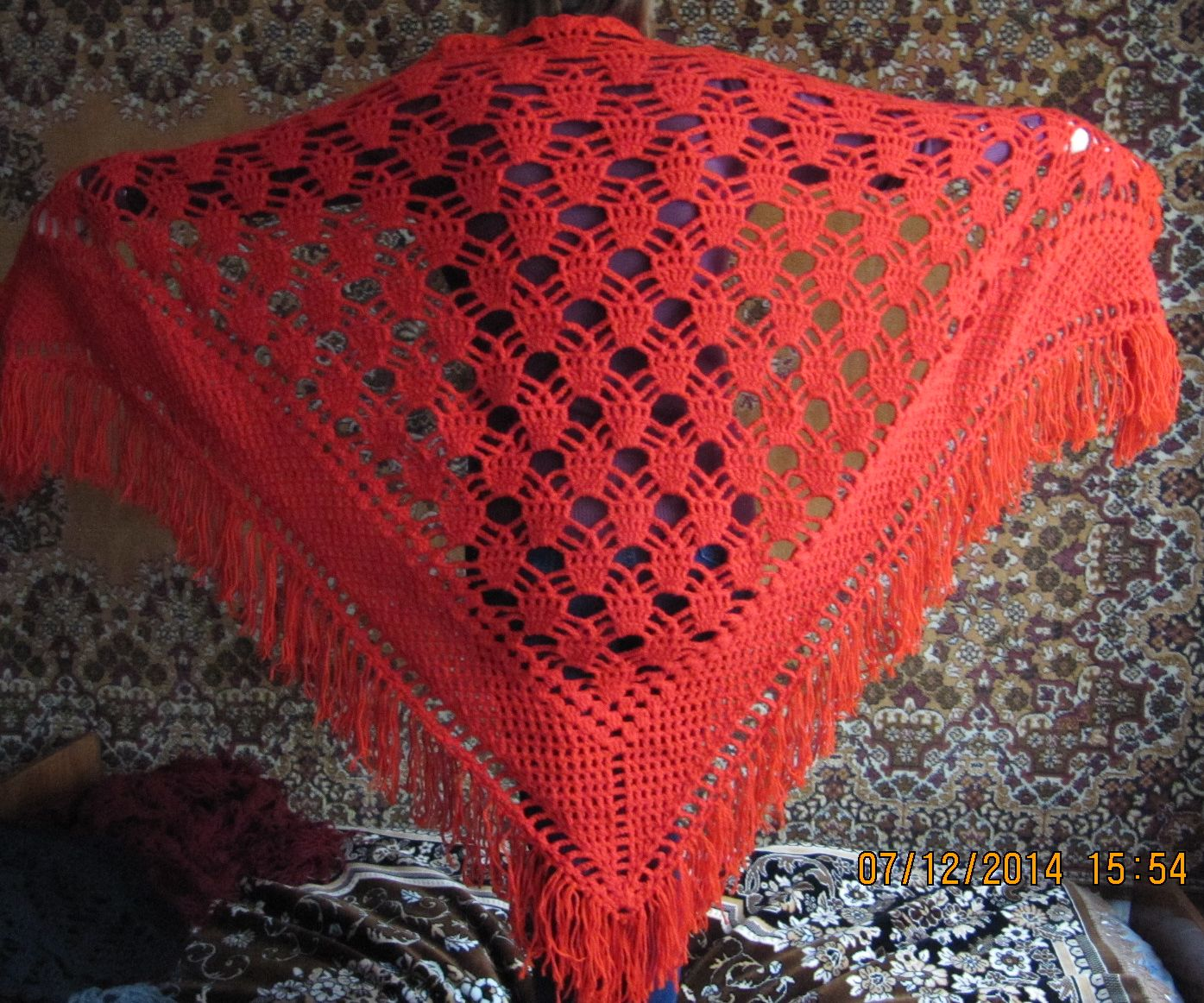 Шаль палантин вязание крючком фото